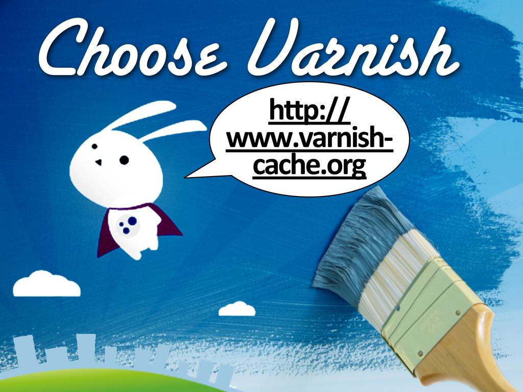 Choose Varnish http:// www.varnish-‐ cache.org