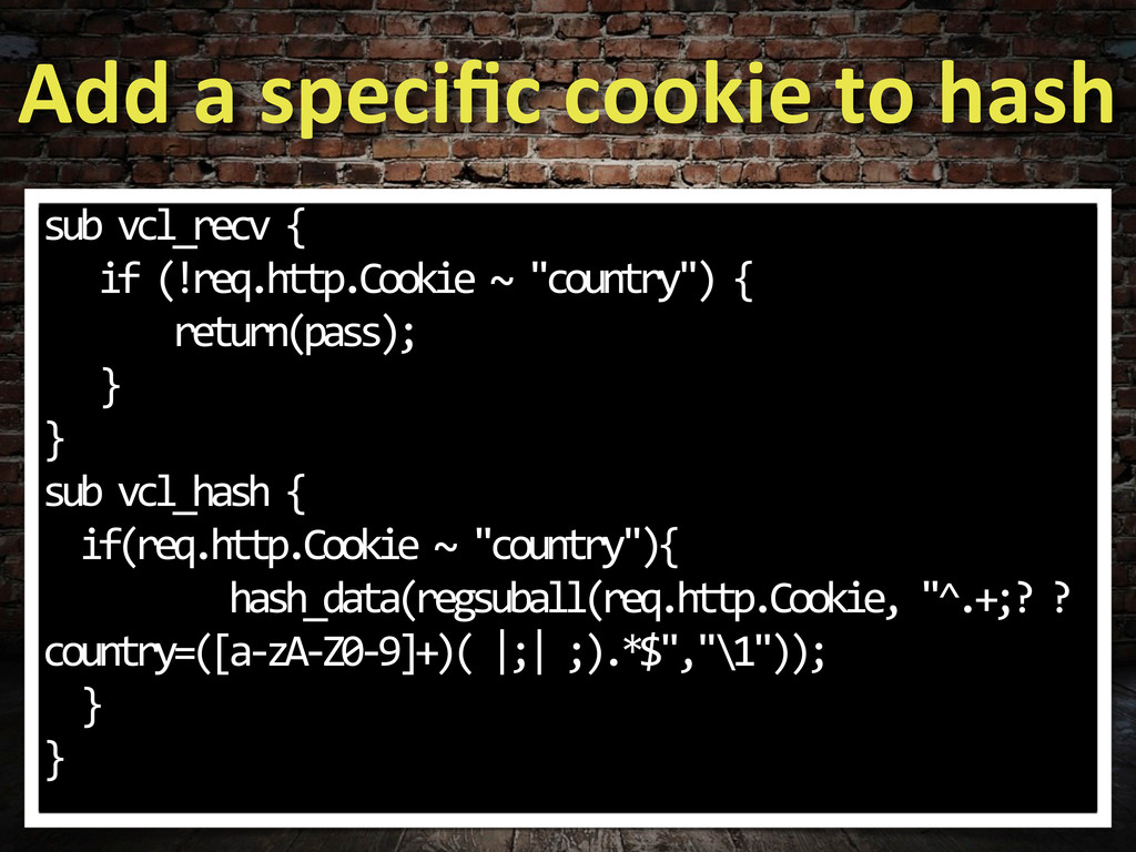 Add a specific cookie to hash sub...