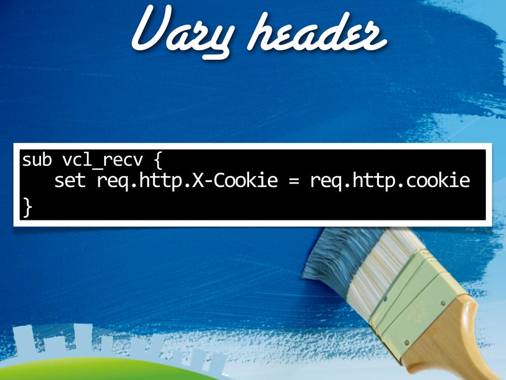 Vary header sub vcl_recv {    se...