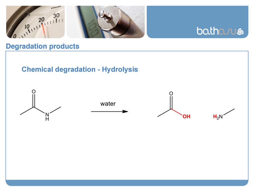 Degradation products! Chemical degradation - Hy...