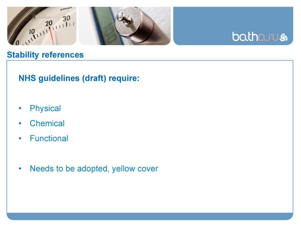 Stability references NHS guidelines (draft) req...