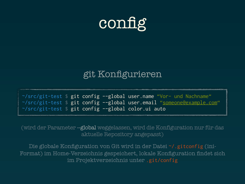 config ~/src/git-test $ git config --global user...
