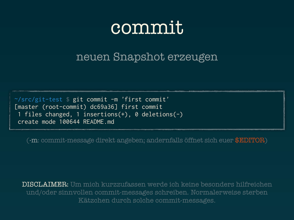 commit ~/src/git-test $ git commit -m 'first co...