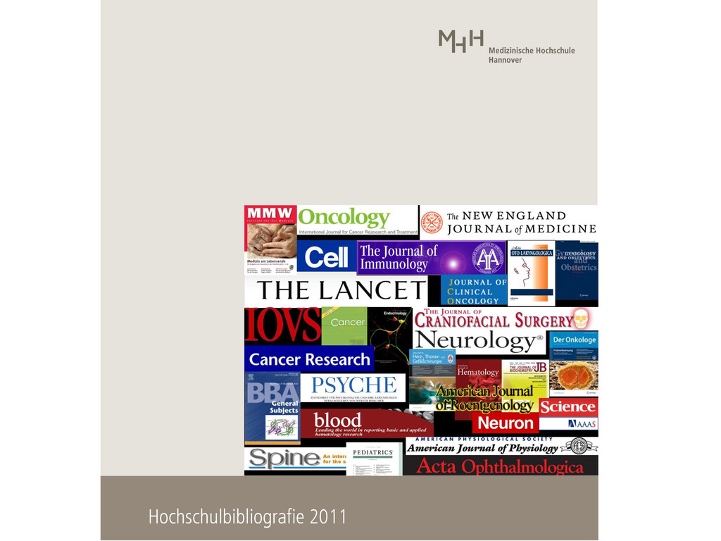 Hochschulbibliografie 2011