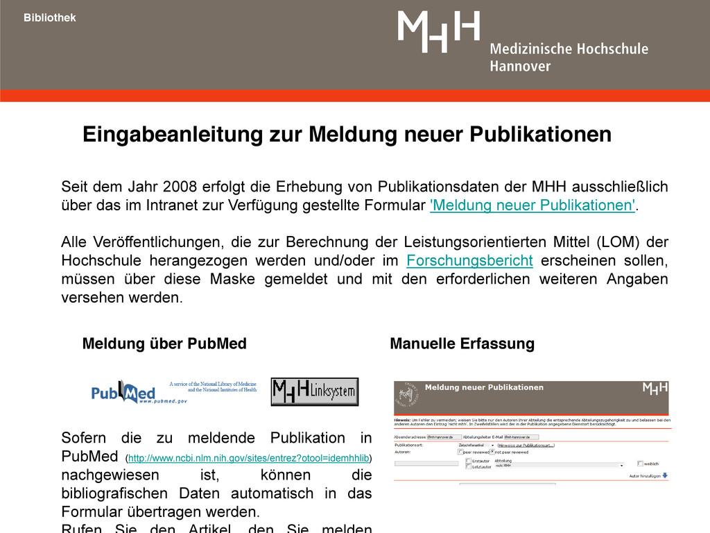 Eingabeanleitung zur Meldung neuer Publikatione...