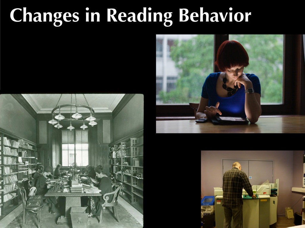 Changes in Reading Behavior