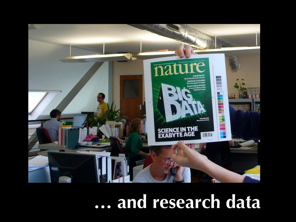 … and research data