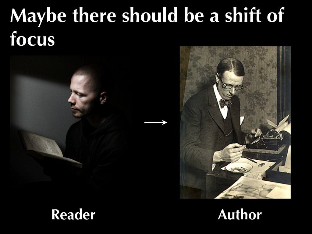 Reader Author Maybe there should be a shift of ...