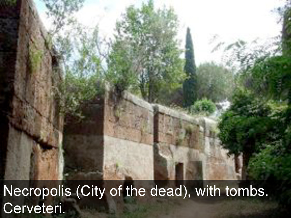 Necropolis (City of the dead), with tombs. Cerv...