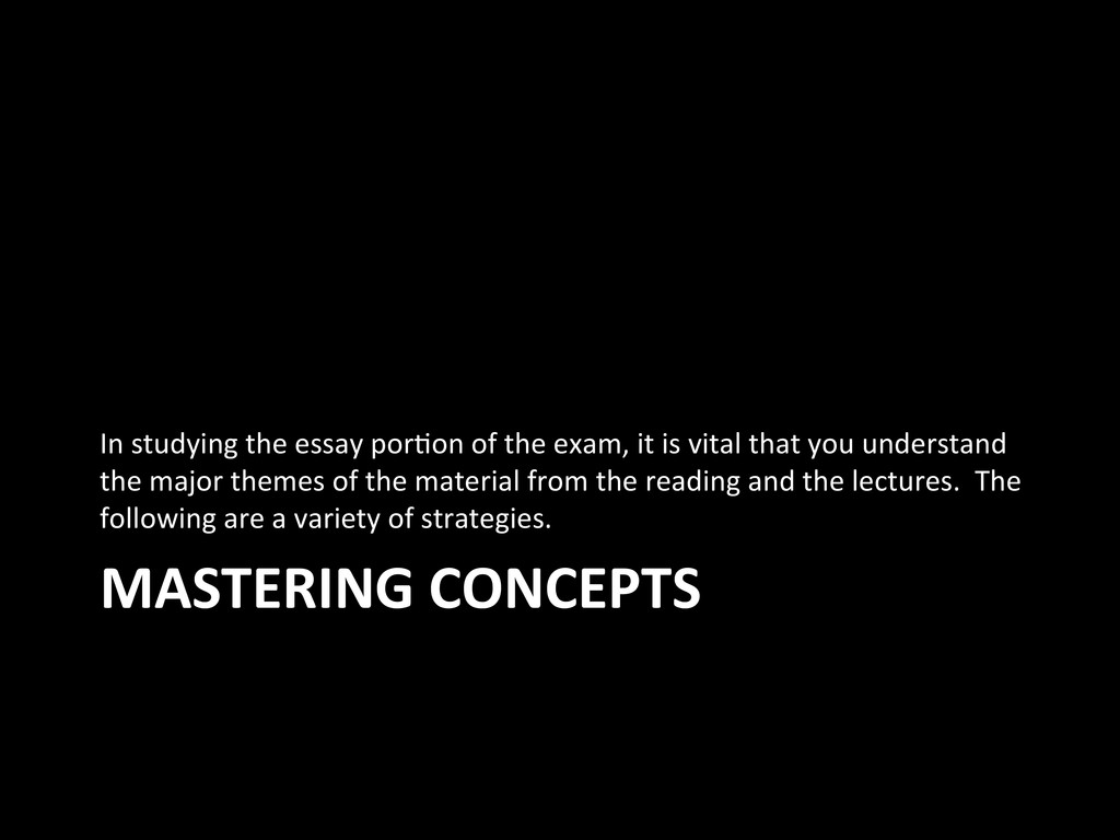 MASTERING CONCEPTS  In studying the...