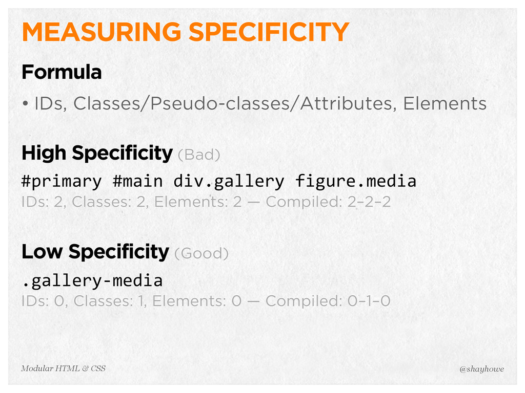 @shayhowe Modular HTML & CSS MEASURING SPECIFIC...