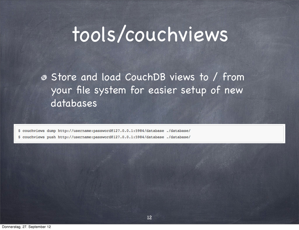 tools/couchviews Store and load CouchDB views t...