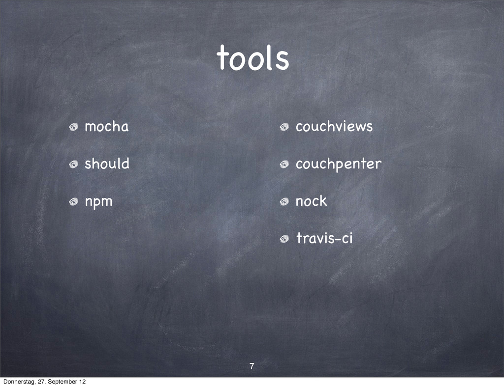 tools mocha should npm couchviews couchpenter n...