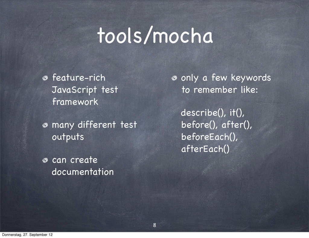 tools/mocha feature-rich JavaScript test framew...