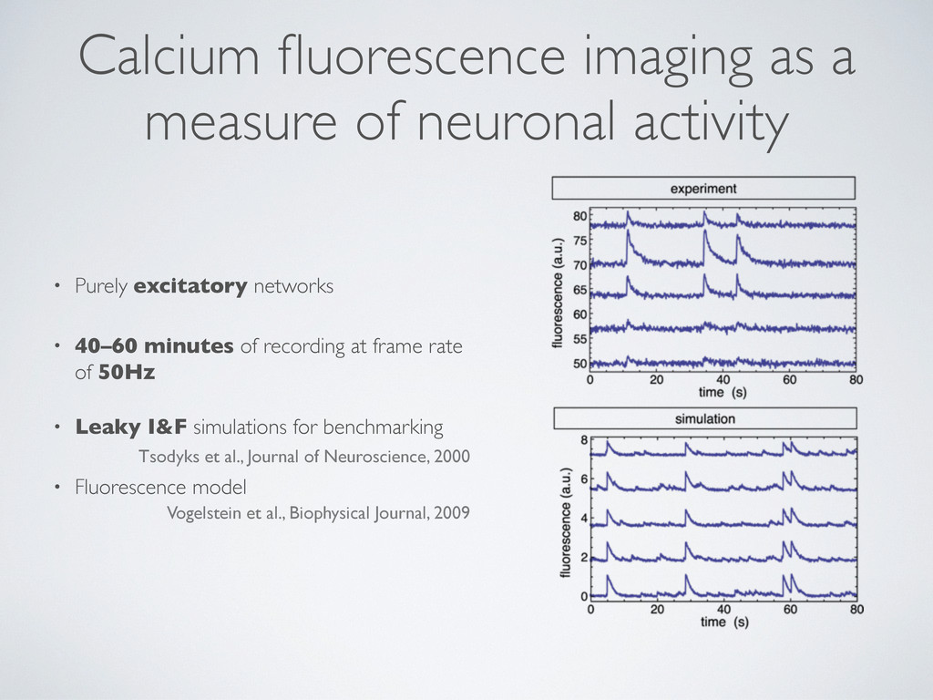 Calcium fluorescence imaging as a measure of neu...