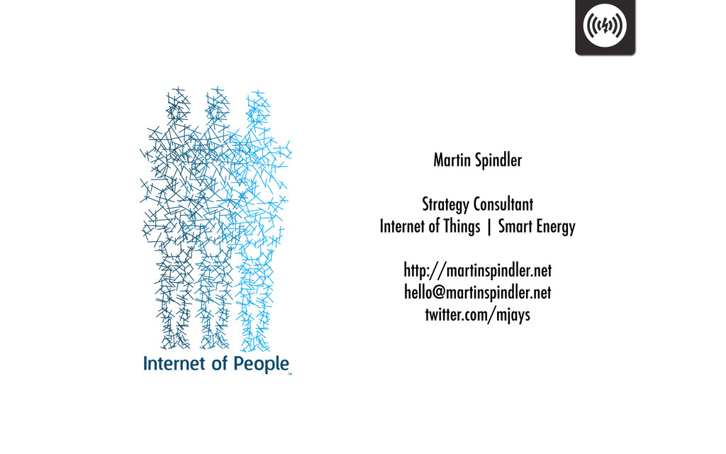 Martin Spindler Strategy Consultant Internet of...