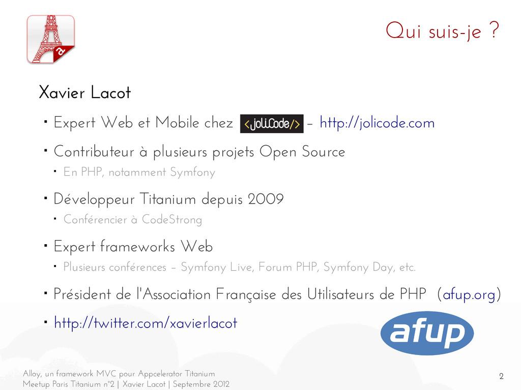 2 Alloy, un framework MVC pour Appcelerator Tit...