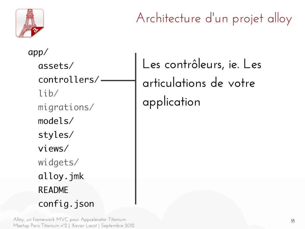 18 Alloy, un framework MVC pour Appcelerator Ti...