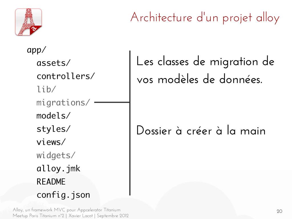 20 Alloy, un framework MVC pour Appcelerator Ti...