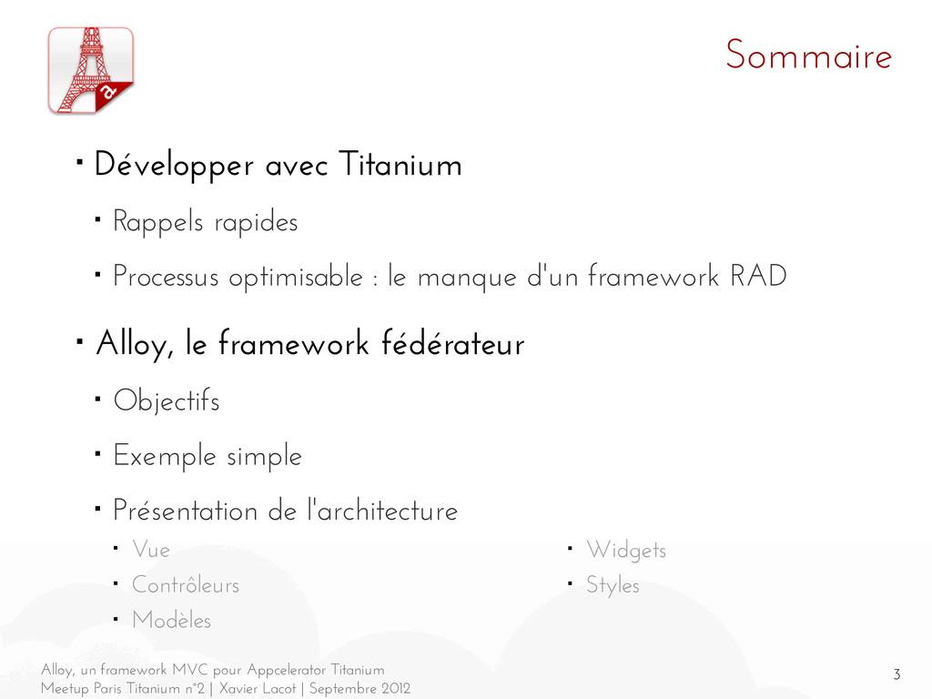 3 Alloy, un framework MVC pour Appcelerator Tit...