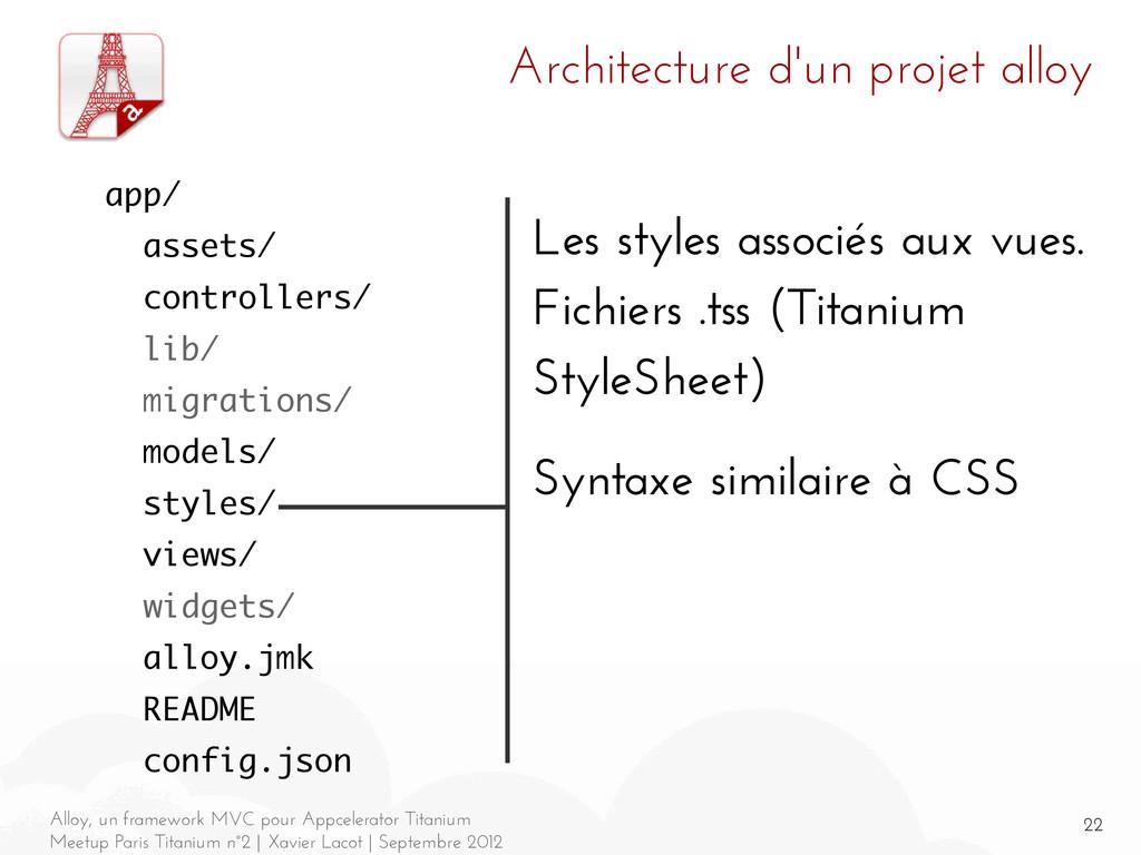 22 Alloy, un framework MVC pour Appcelerator Ti...