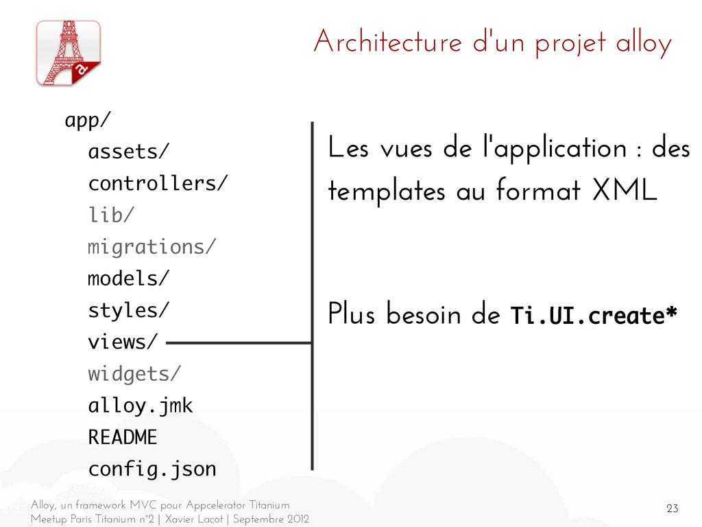 23 Alloy, un framework MVC pour Appcelerator Ti...