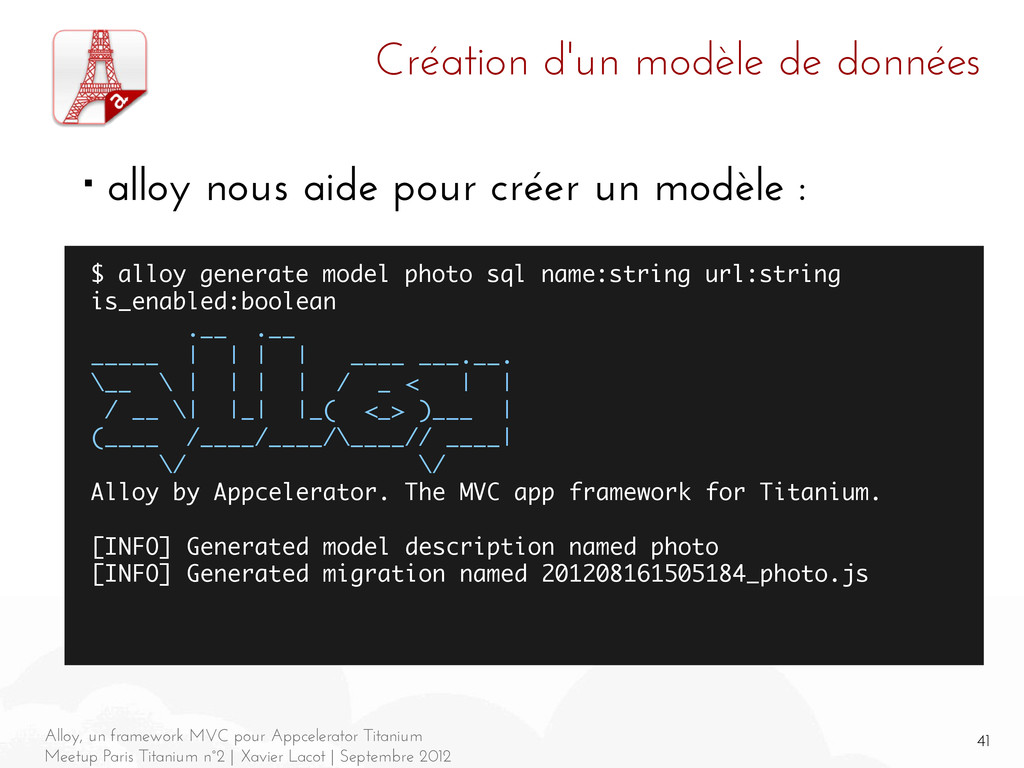 41 Alloy, un framework MVC pour Appcelerator Ti...