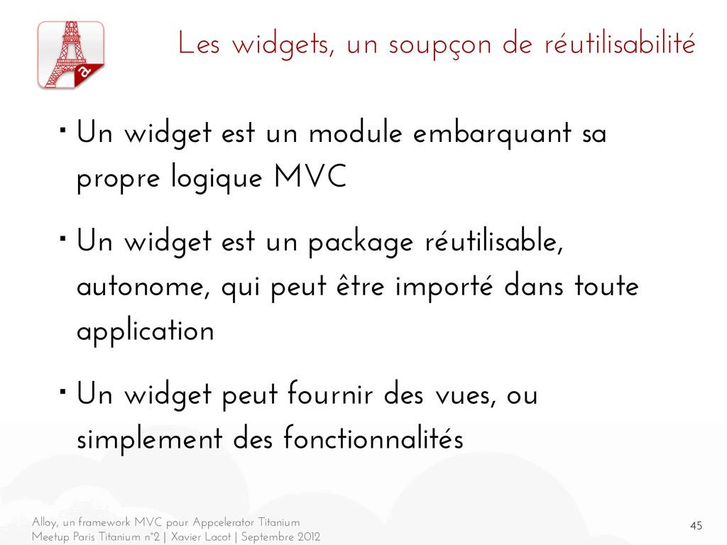45 Alloy, un framework MVC pour Appcelerator Ti...