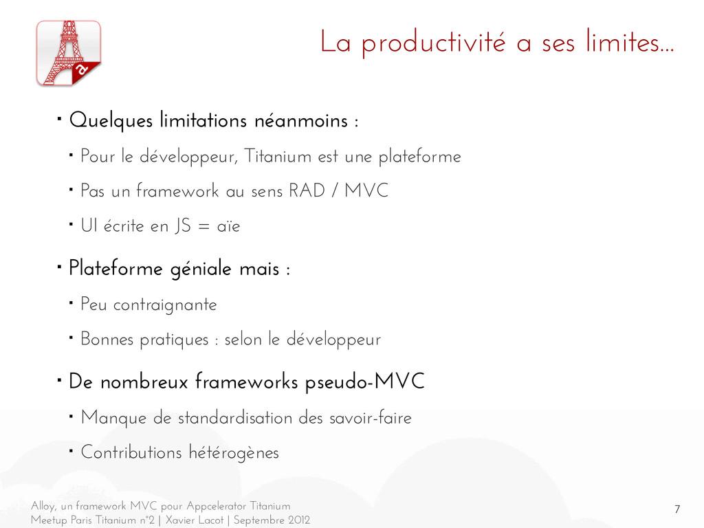 7 Alloy, un framework MVC pour Appcelerator Tit...
