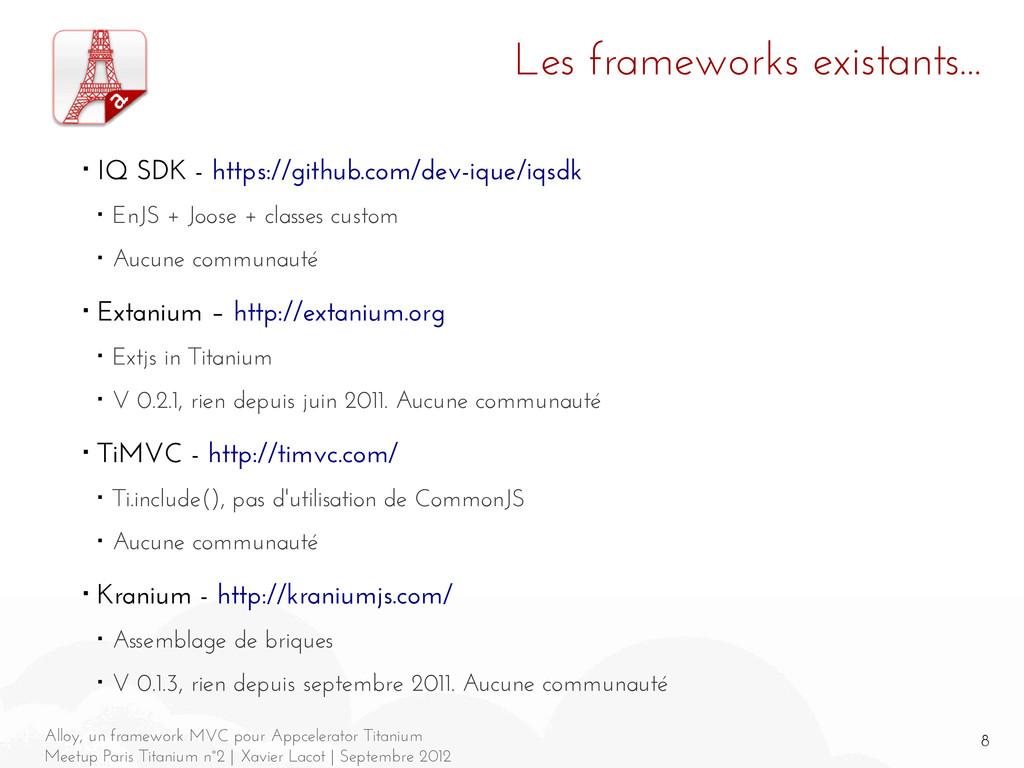 8 Alloy, un framework MVC pour Appcelerator Tit...
