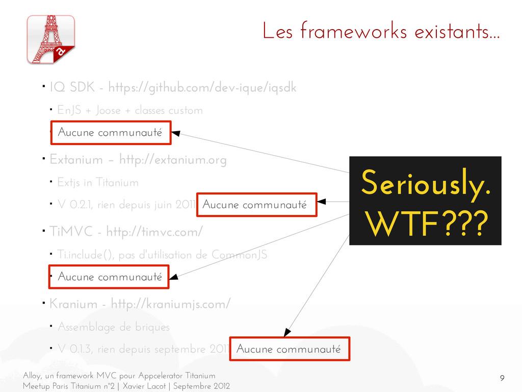 9 Alloy, un framework MVC pour Appcelerator Tit...
