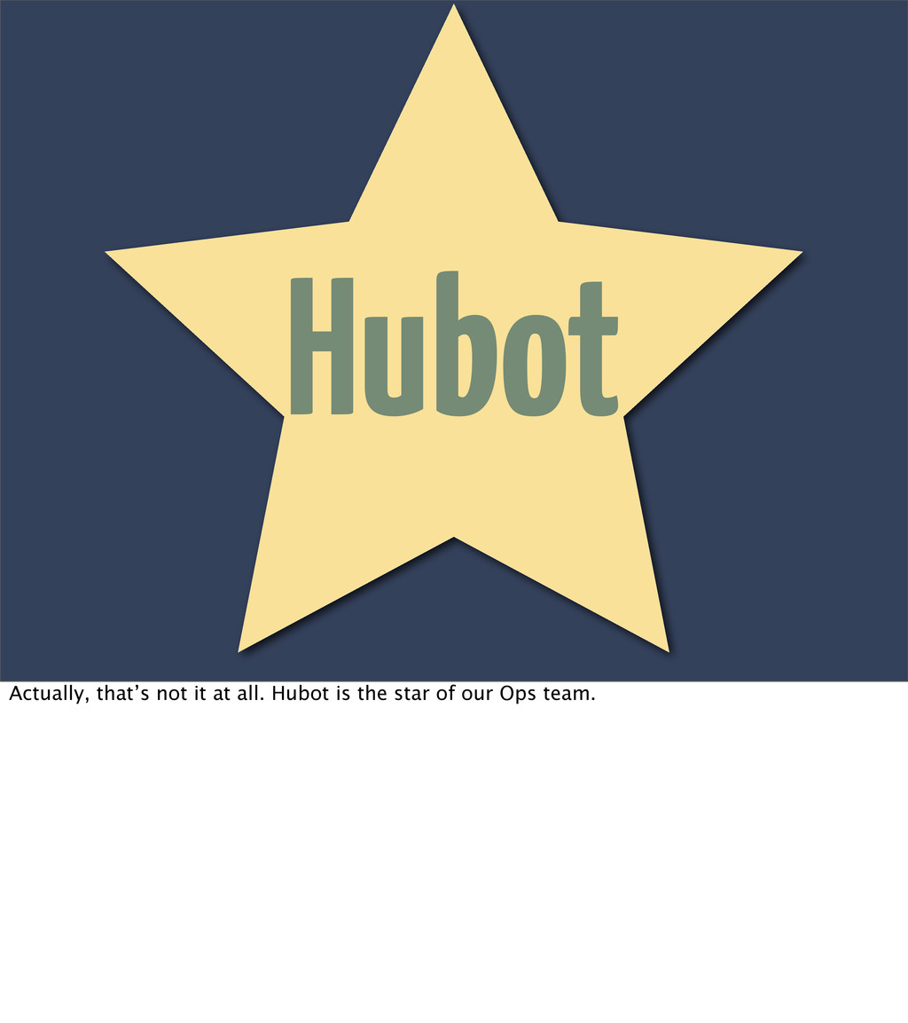 Hubot Actually, that's not it at all. Hubot i...