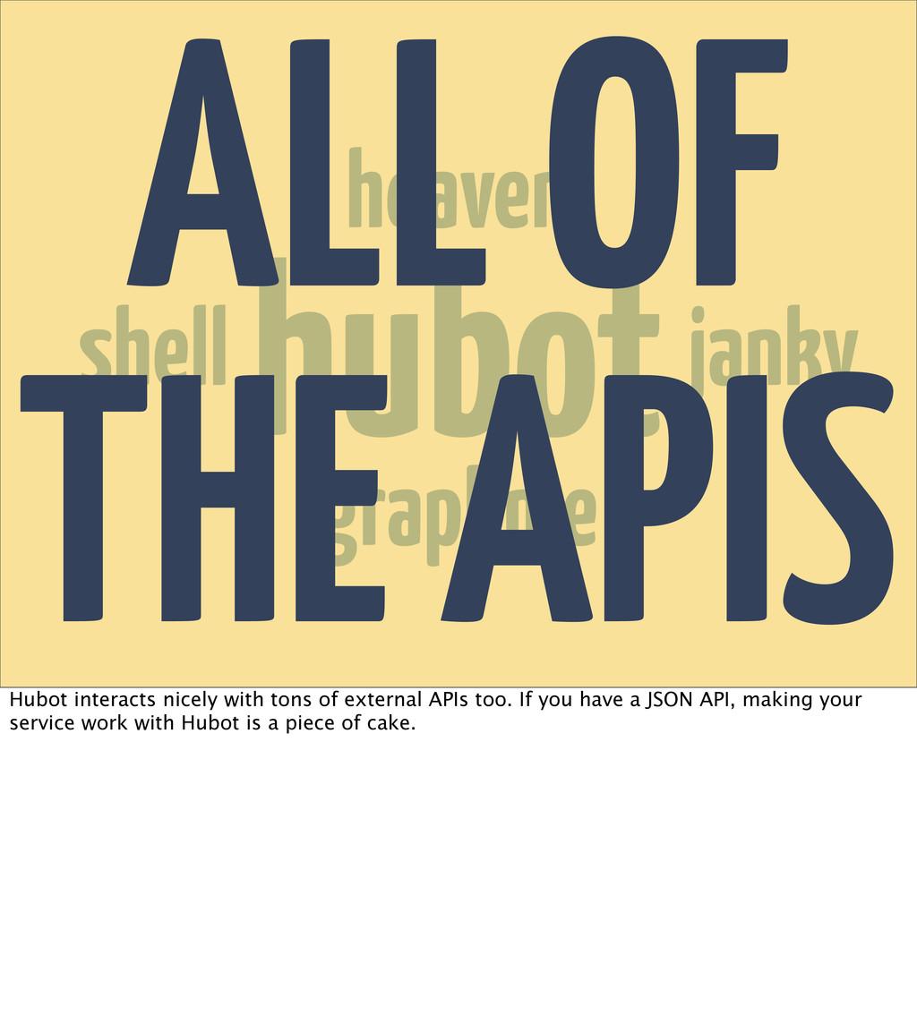 hubot heaven janky shell graphme ALL OF THE API...