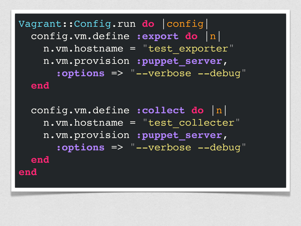 Vagrant::Config.run do  config  config.vm.defin...