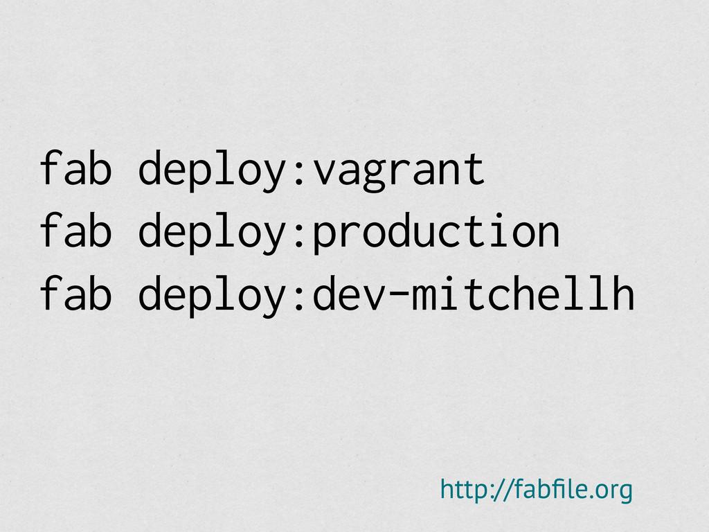 fab deploy:vagrant fab deploy:production fab de...