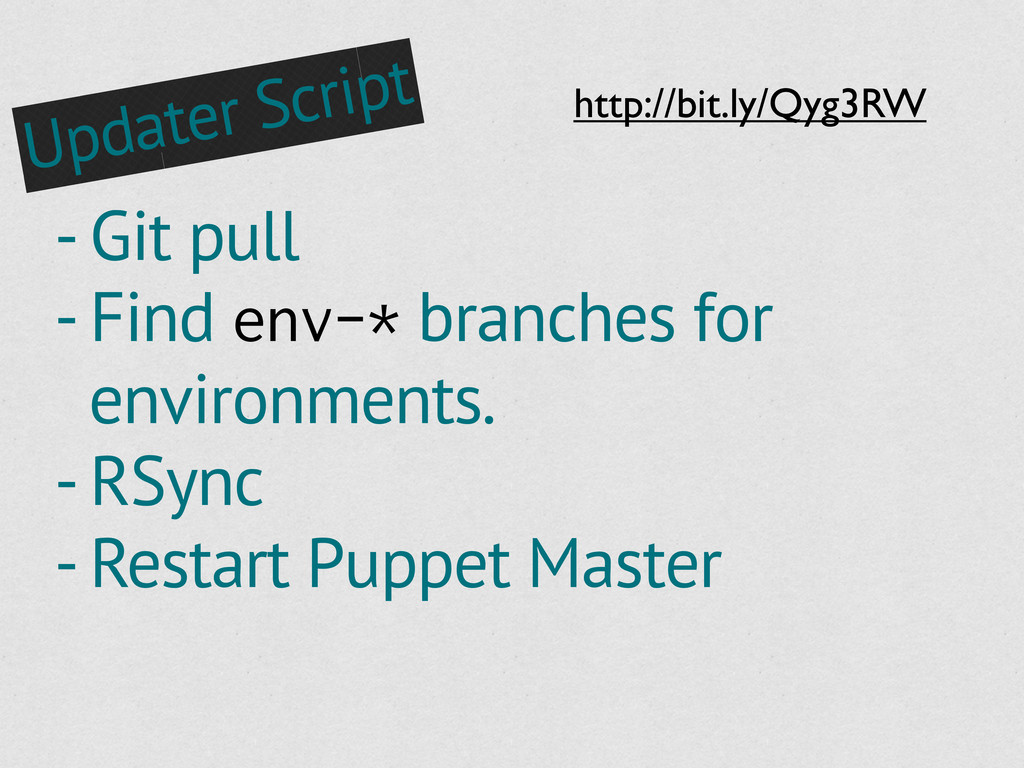 - Git pull - Find env-* branches for environmen...