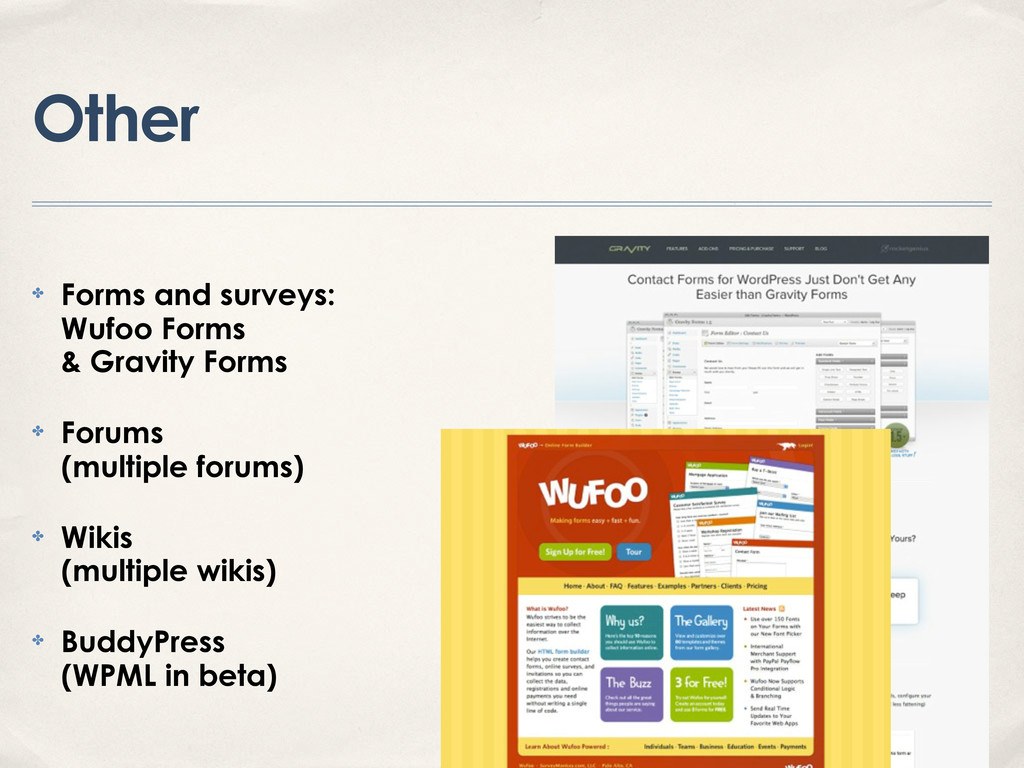 Other ✤ Forms and surveys: Wufoo Forms & Gravit...