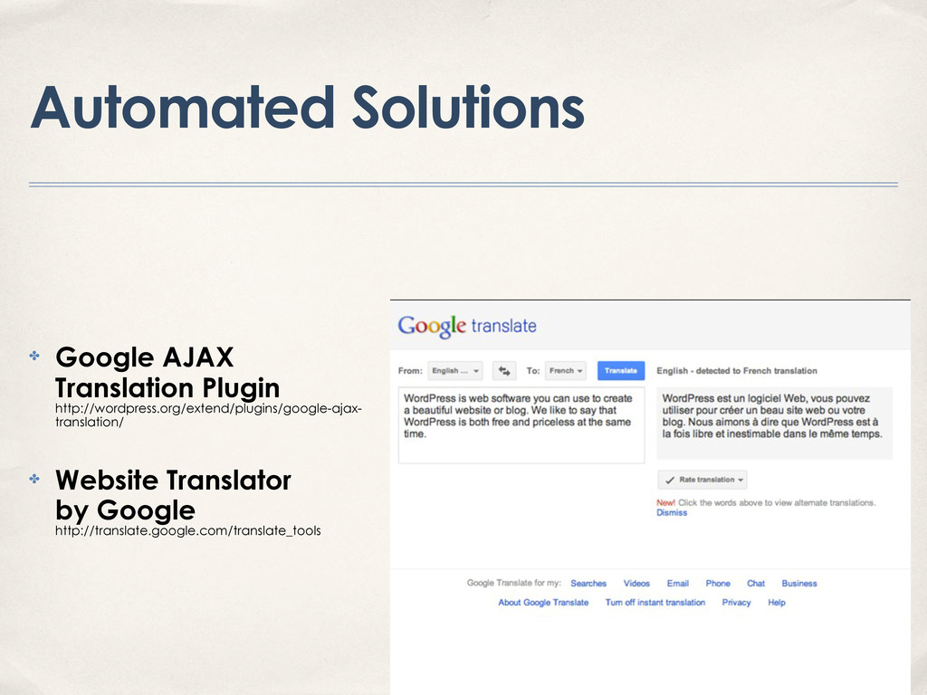 Automated Solutions ✤ Google AJAX Translation P...