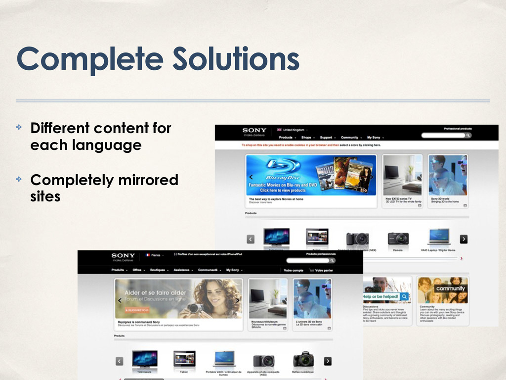 Complete Solutions ✤ Different content for each...