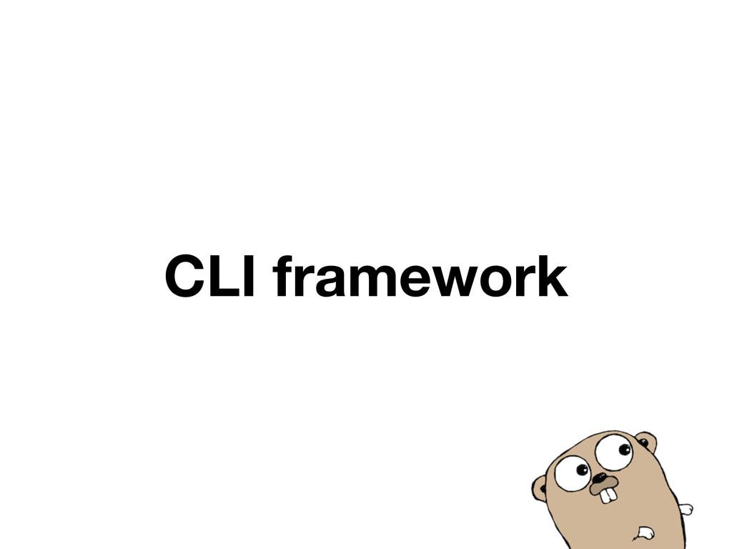 CLI framework