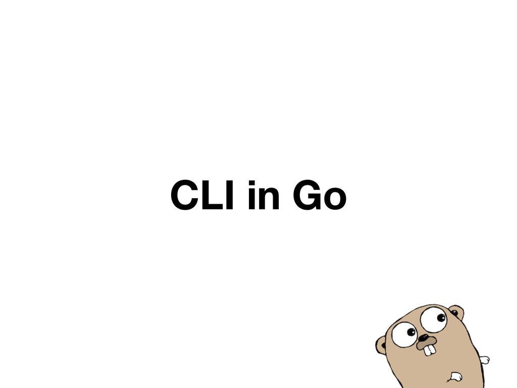 CLI in Go