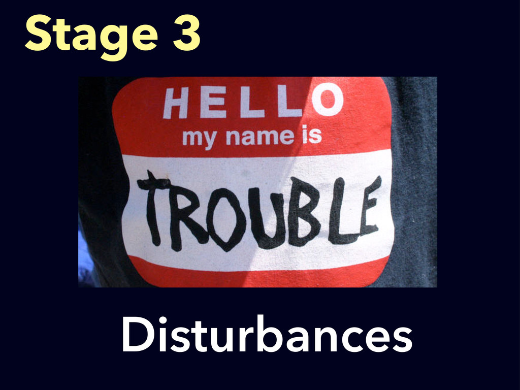 Disturbances Stage 3