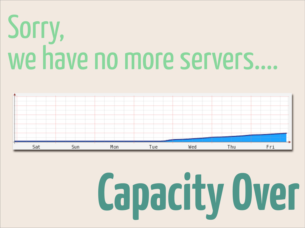 Capacity Over Sorry, we have no more servers....