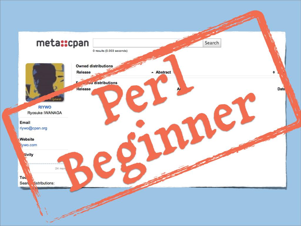 Perl Beginner