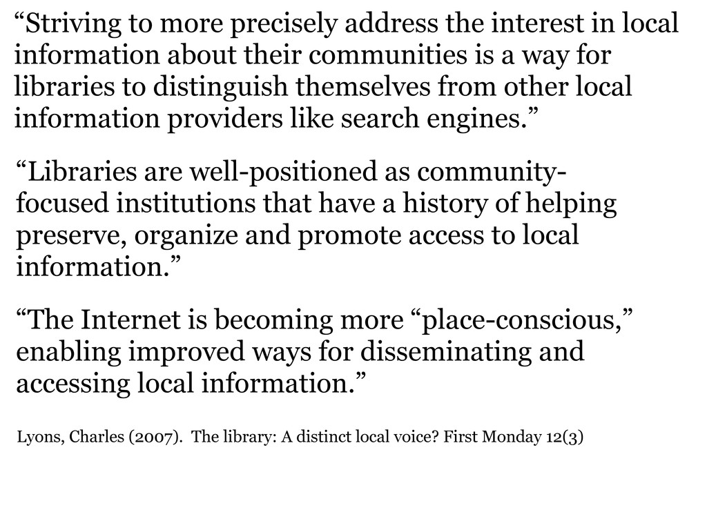 """""""Striving to more precisely address the interes..."""