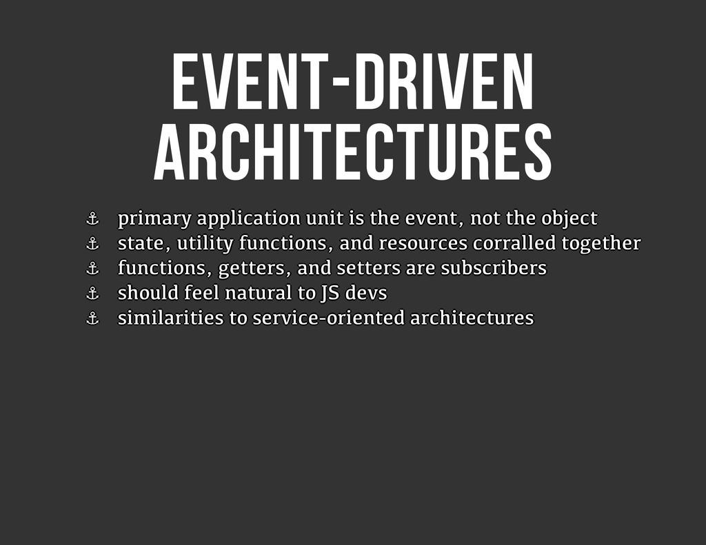 EVENT-DRIVEN ARCHITECTURES ⚓ ⚓ ⚓ ⚓ ⚓ ⚓ ⚓ ⚓ prim...