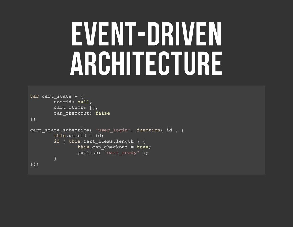 EVENT-DRIVEN ARCHITECTURE v a r c a r t _ s t a...