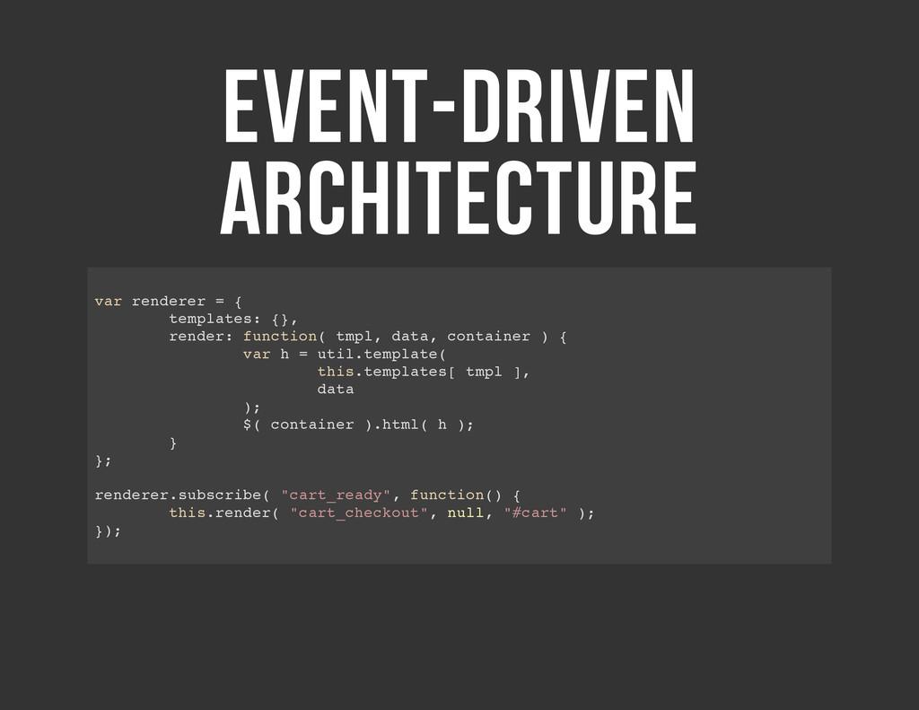 EVENT-DRIVEN ARCHITECTURE v a r r e n d e r e r...