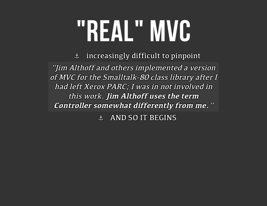 """REAL"" MVC ⚓ ⚓ ⚓ ⚓ ⚓ ⚓ ⚓ ⚓ increasingly difficu..."