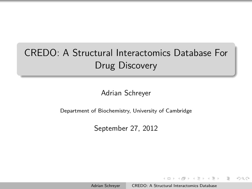 CREDO: A Structural Interactomics Database For ...